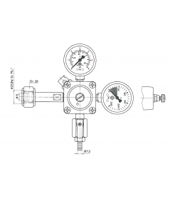 Reducer for beer dispensing system ODL